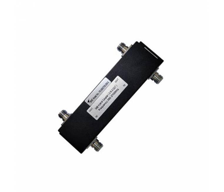 380-2700 MHz Hybrid Coupler, 200W, 3dB, N-F, IP65, -153 dBc