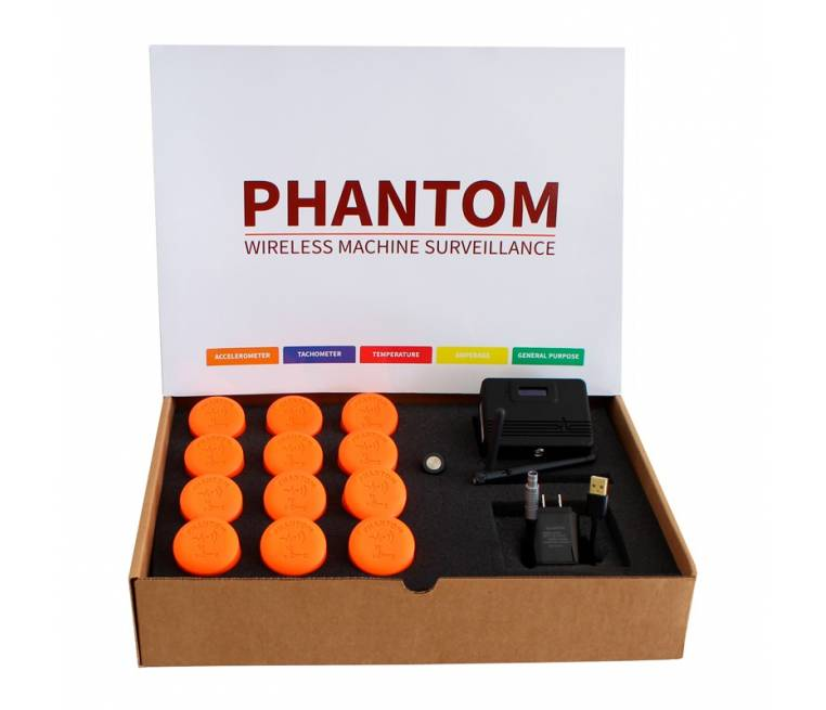 Wireless Triaxial Accelerometer for Continous Monitoring Sensor - Phantom Expert 12 Kit